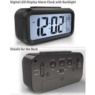 Digital Snooze LED-Wecker Wecker Backlight Time Calendar Thermometer Temperatur