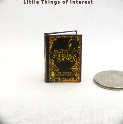 THE COMPLETE SHERLOCK HOLMES Miniature Book Dollhouse 1:12 Scale Readable Book