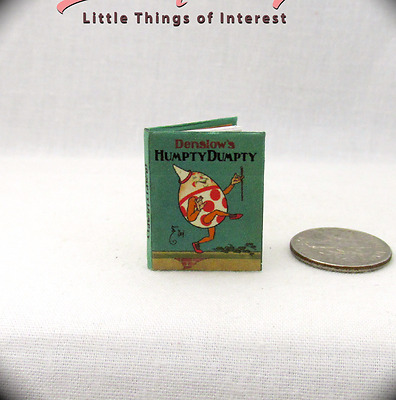 HUMPTY DUMPTY Miniature Book 1:12 Scale Dollhouse Book Colorful Illustrated