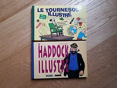 Le Tournesol illustré + Le Haddock illustré Albert Algoud Casterman Tintin