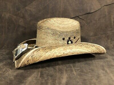 1ef07100e7dd5 Sz  S M Kenny Chesney Blue Chair Bay Toasted Palm Straw Cattleman Cowboy Hat