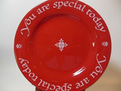 """You Are Special Original Red Plate 1979 Made in Germany 10.5"""" EUC"""