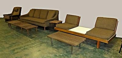 VINTAGE 6 PC Mid Century Modern Sofa Chair Loveseat Folke ...