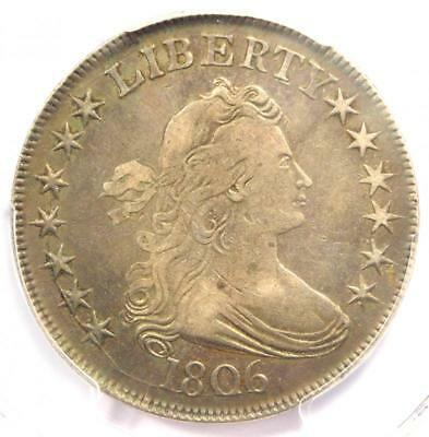 1806 Draped Bust Half Dollar 50C Coin (Pointed 6, Stem) - PCGS VF20 - $725 Value