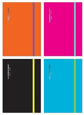 2019 2020 A5 Day to Page Academic Mid year Casebound Hardback Students Diary