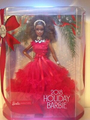 Barbie Holiday 2018 Doll African American 30th Anniversary Collector's Item Toy