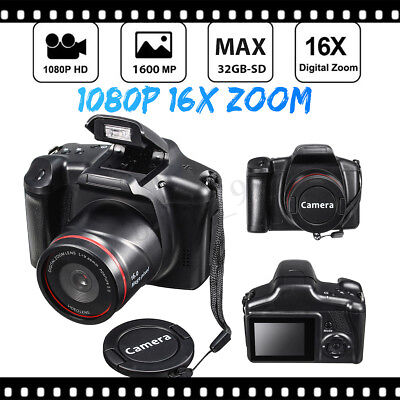 Digital Camera HD 1080P 16X ZOOM Portable Handheld DVR 32G Photo Vedio Record