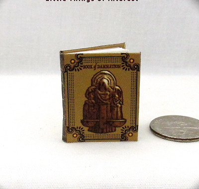 BOOK OF DAMNATION Dollhouse Miniature Book 1:12 Scale Illustrated Covenant