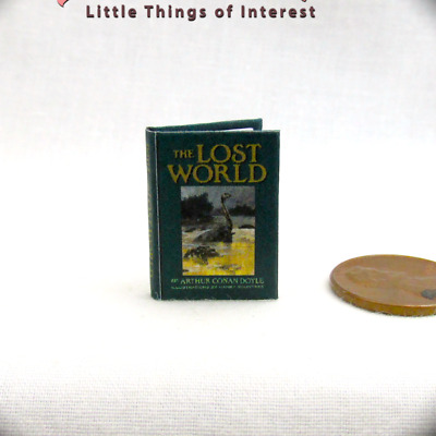 THE LOST WORLD Miniature Book Dollhouse 1:12 Scale Readable Illustrated Book