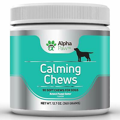 Alpha Paw Calming Treats for Dogs - Natural Dog Anxiety Relief with Pure Hemp