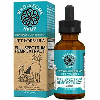 Hemp Oil For Dogs &amp Cats - Natural Anxiety Relief Dogs, Supports Hip Joint