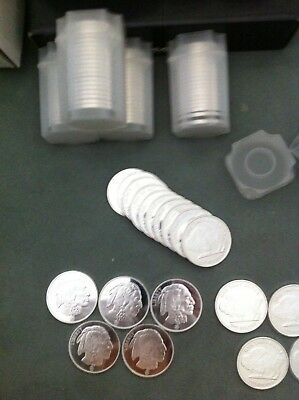 1 oz. Silver Rounds - Republic Metal Corp Buffalo Design (Lot, Roll, Tube of 20)