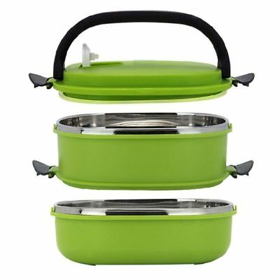 1/2 Layer Stainless Steel Thermal Insulated Bento Food Container Lunch Box 1 !