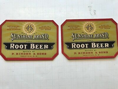 Vintage Gargers Root Beer Soda Label North St Louis Mo