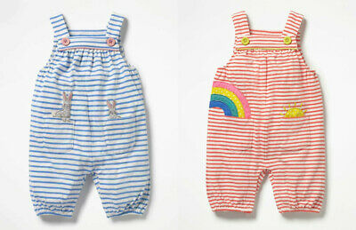 ex Baby Boden Cotton Jersey Dungarees 0-3 years 5 designs Bunny Dinosaur Farm