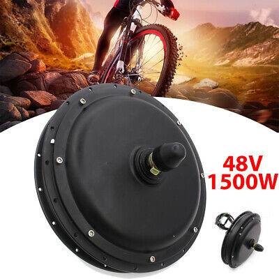 "48V Electric Bicycle E Bike Motor Conversion Kit 1500W 26"" Front Wheel Hub  !"