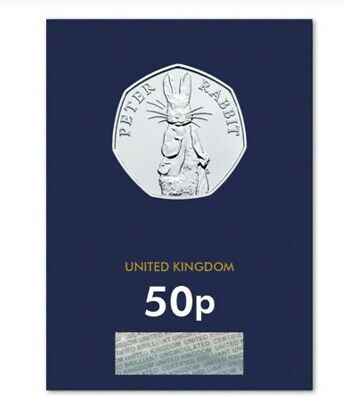 2019 50p Fifty Pence Coin UK Peter Rabbit Brilliant Uncirculated