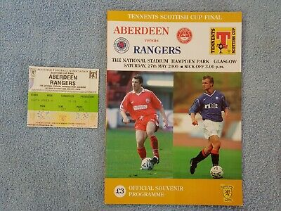 2000 - SCOTTISH CUP FINAL PROGRAMME + TICKET - ABERDEEN v RANGERS