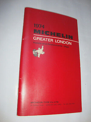 Guide Michelin Greater London Hotels And Restaurants 1974