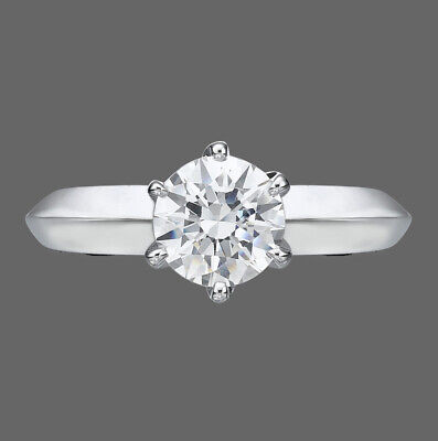 2 CT Solitaire Diamond Engagement Ring Round Cut F/SI1 14K White Gold Enhanced
