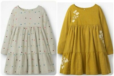 Girls Boden Embroidered Tiered Dress  Ex Mini Boden Age 3-16 Years RRP £40