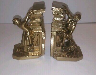 PM Craftsman Brass Book Ends-The Librarian FREE SHIPPING!!!