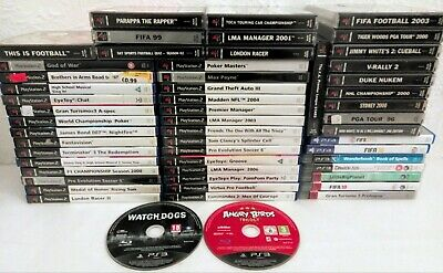 54 Playstation Games Job Lot/bundle Ps1 Ps2 Ps3 & Ps4
