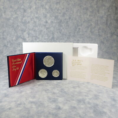 1976 US Mint 3 Coin Bicentennial SILVER PROOF SET OPG - CLEAN BLEMISH FREE