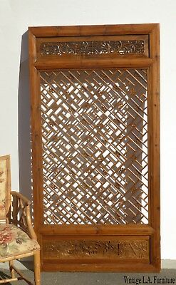 Antique Asian Chinese Carved Chinoiserie Door Panel Wall Hanging Barn Door