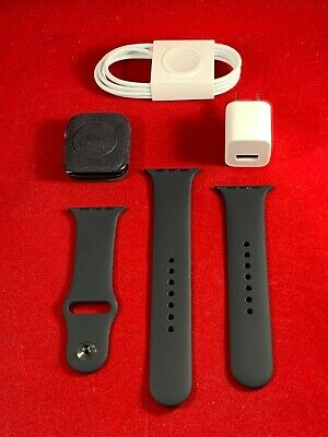 Apple Watch Series 4 44mm Space Gray Aluminum Case Black Sport Band GPS Cellular