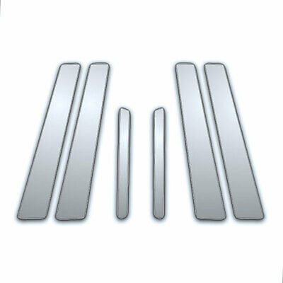 6Pc Chrome Pillar Side Covers for 07-16 Volvo S-80