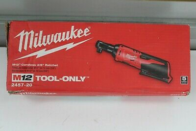 """Milwaukee 2457-20 M12 Cordless 3/8"""" Ratchet. Tool Only!"""