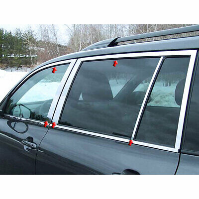 Stainless Window Pkg (w/Posts) fit for 08-13 Toyota Highlander - LUXFX2851