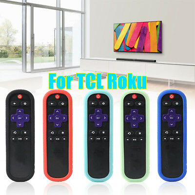 Shockproof Silicone TV Remote Case Cover for TCL Roku TV Streaming Media