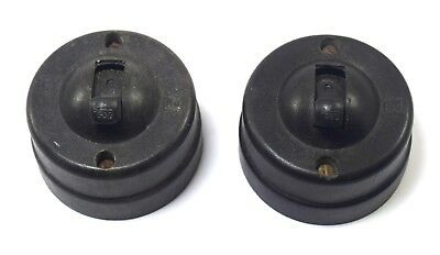Pair Of Vintage 250 V Electric Switch Original Made In India Decor. i59-98 US