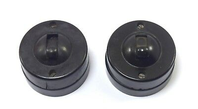 Old Indian Pair Of Bakelite Electric Switch 250 Volts Home Decorative. i59-99 US