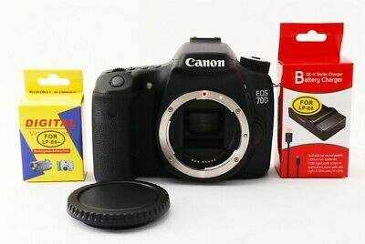 Canon EOS 70D 20.2MP Digital SLR Camera Black Body Excellent+ from Japan #11077