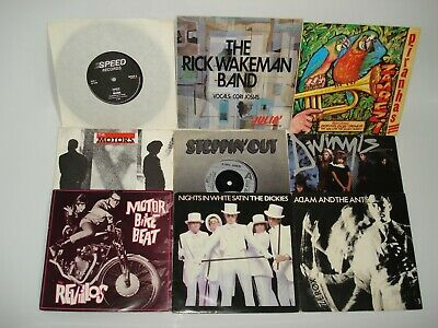"130 x Vinyl 7"" Singles Collection Bundle Job Lot Rock Pop Punk Metal Beatles"