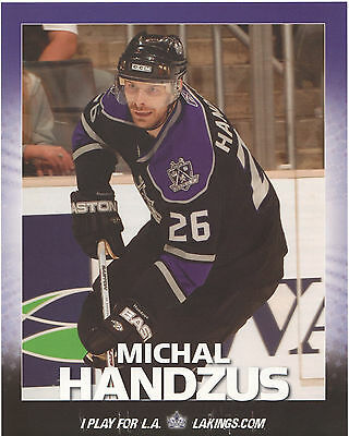 MICHAL HANDZUS Los Angeles Kings vs San Jose Sharks 2007 game roster/lineup card