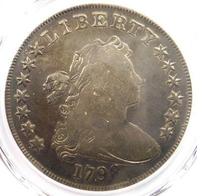 1798 Draped Bust Silver Dollar $1 - Certified PCGS Fine Details - Rare Coin!