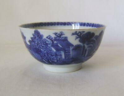 C.18th Chinese Export Porcelain Blue & White Bowl 11 cm Wide A/F
