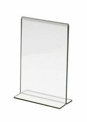 """Store Display Fixtures ACRYLIC BOTTOM LOAD SIGN HOLDER 4""""W x 6""""H  (6 pack)"""