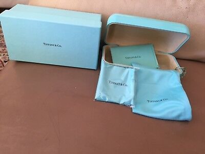 60dca50f7f23 Authentic Tiffany & Co Signature Gold Butterfly Sunglasses Hard Case