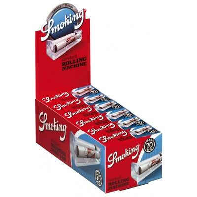 12 Macchinette Smoking Regular Per Sigarette Rolling Machine 70 mm 1 Box