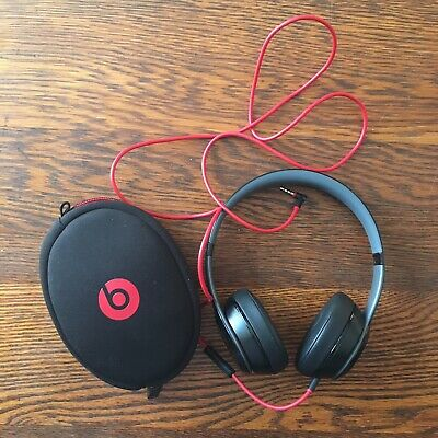Beats by Dr. Dre Solo2 WIRED Headband Headphones - Black Used