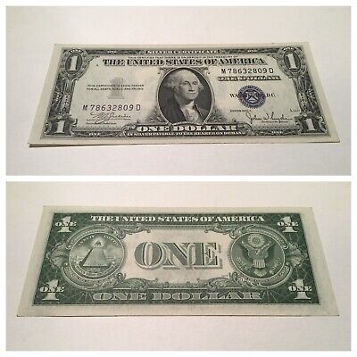 Vintage $1 One Dollar 1935-C Silver Certificate Bill $1 Washington Blue Seal Vnc