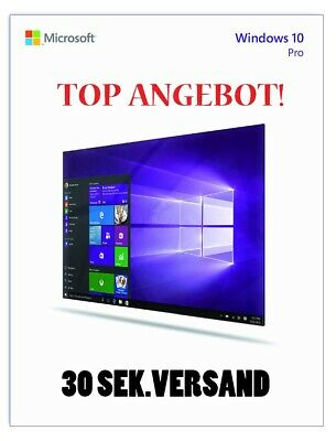 Windows 10 Pro Professional Key Vollversion Code 32/64 bit PROCUCT KEY