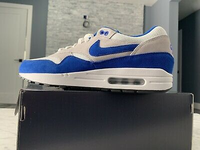 a8722748da NIKE AIR MAX 1 ID WHITE SPORT Blue GREY BLACK 326 378830-161 OG 11 ...