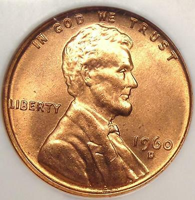 1960-D Lincoln Memorial Cent Small Date 1C - NGC MS67 RD - Price Guide $840