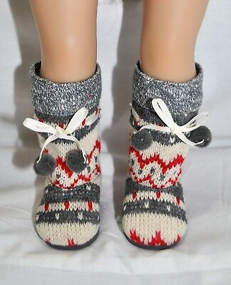 "Our Generation American Girl Journey Girl 18"" Dolls Shoes Woolen Pom Pom Boots"